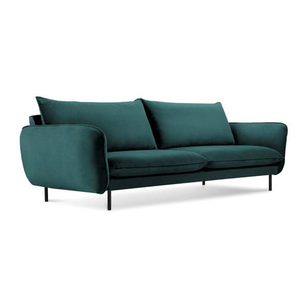 Ciemnozielona aksamitna sofa Cosmopolitan Design Vienna, 230 cm