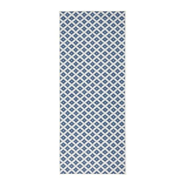 Covor reversibil adecvat interior/exterior Bougari Nizza, 80 x 250 cm, albastru deschis