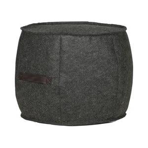 Antracitově šedý plstěný puf De Eekhoorn Sef, ⌀49cm