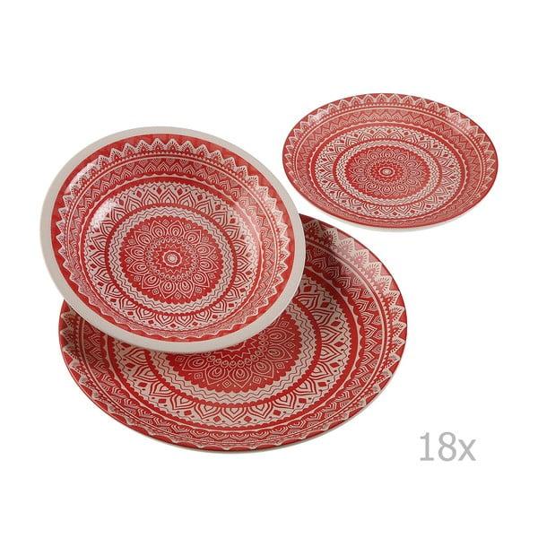 Set 18-dielneho keramického riadu Versa Vajilla Roja
