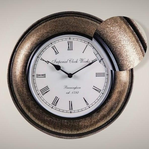 Nástěnné hodiny Květinový vzor