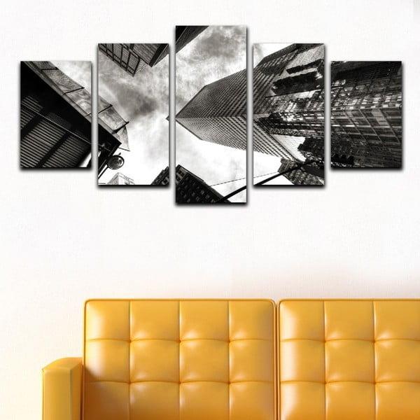 Vícedílný obraz Black&White Skyscrapers
