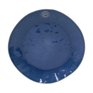 Modrý servírovací talíř z kameniny Costa Nova Denim,⌀33 cm