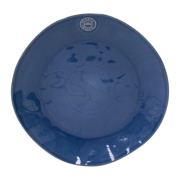 Tmavě modrý servírovací kameninový talíř Costa Nova Nova,⌀33 cm