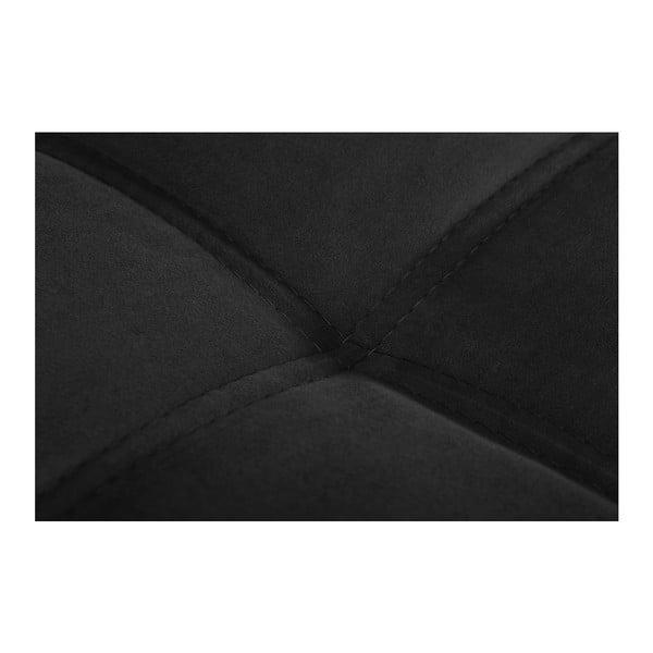 Černá pohovka Modernist Crinoline, pravý roh