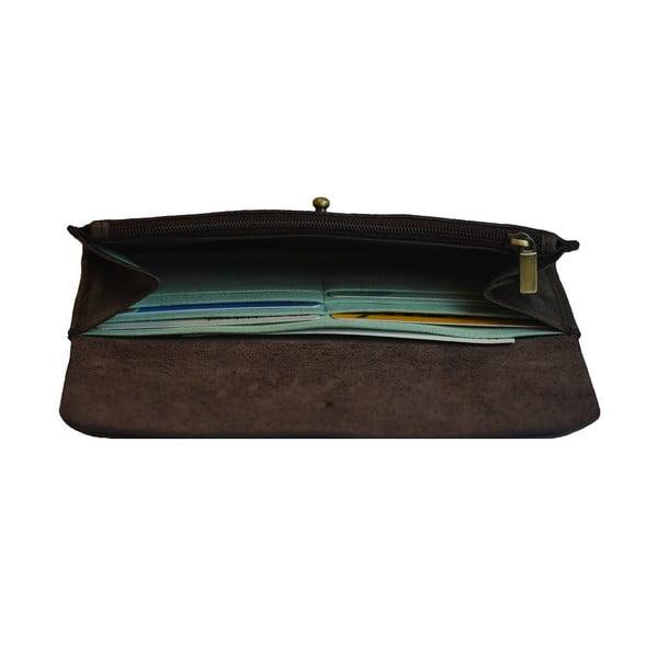 Kožená peněženka Pixies Pouch, tmavě hnědá