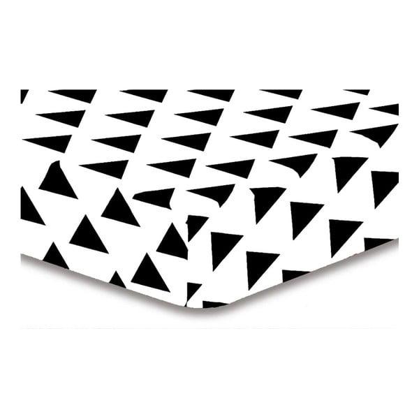 Cearșaf din microfibră DecoKing Hypnosis Triangles Elena, 200x220cm