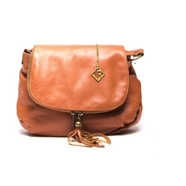 Kožená kabelka Isabella Rhea 2052 Cognac
