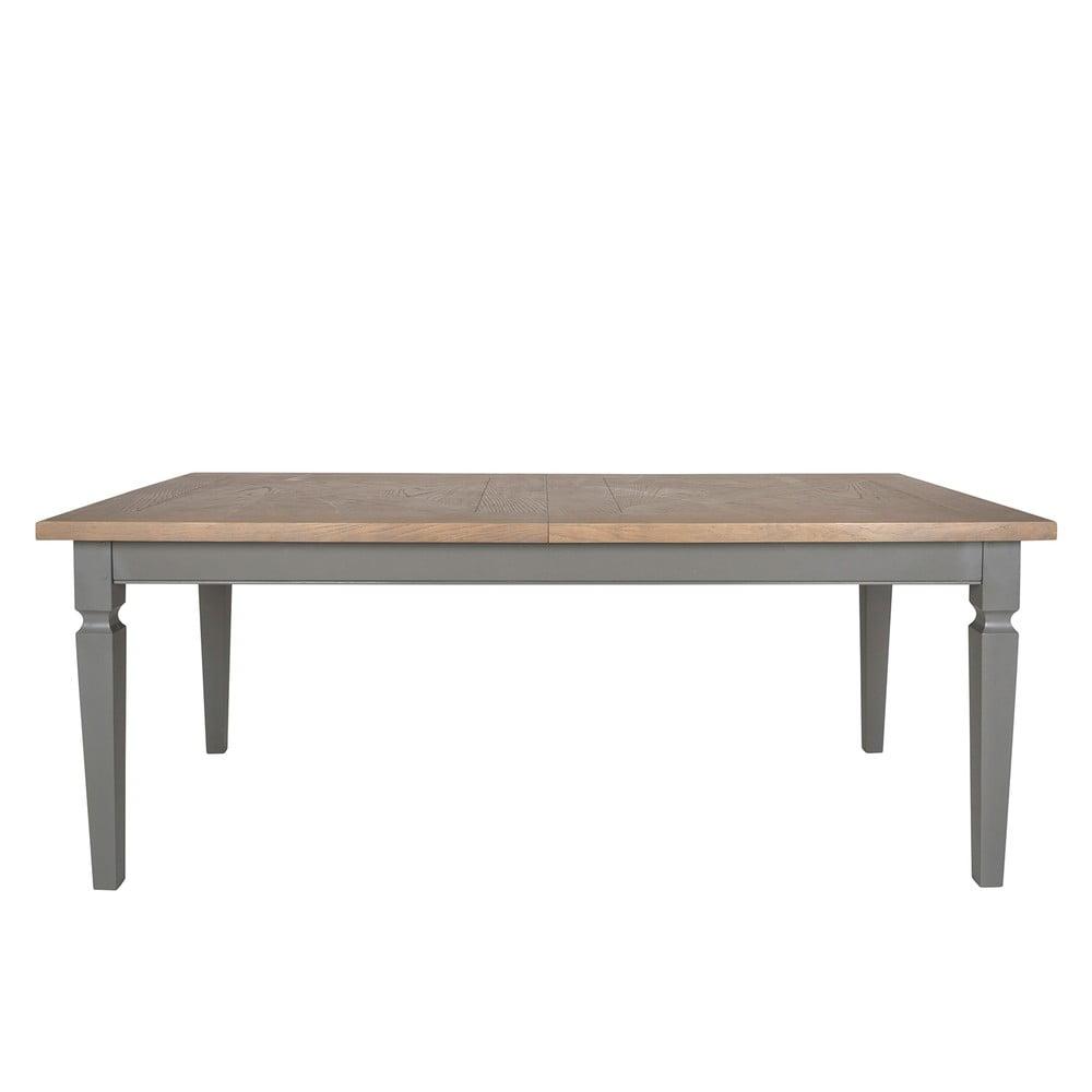 Šedý rozkládací jídelní stůl Canett Royal, 200cm