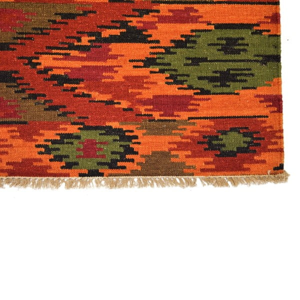 Ručně tkaný koberec Red Ethno Patterns, 140x200 cm