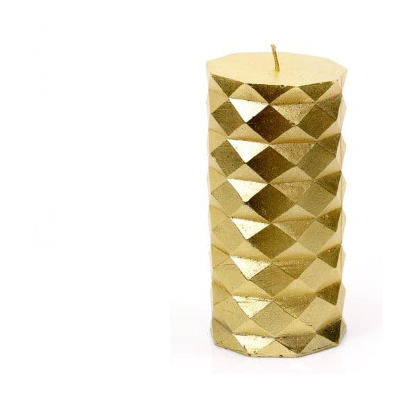 Sviečka v zlatej farbe Unimasa Fashion, výška 13,8 cm