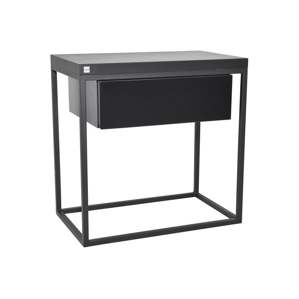 Černý noční stolek Take Me HOME Moonlight, 50 x 30 cm