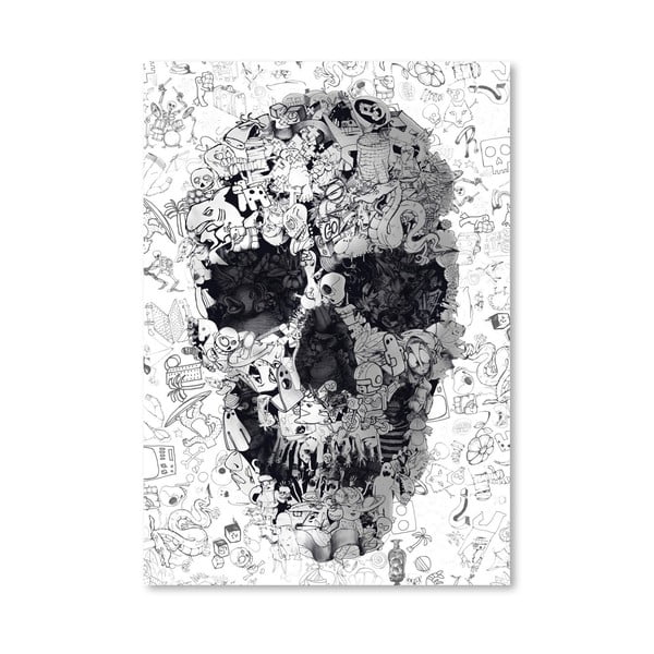 Autorský plakát Doodle Skull