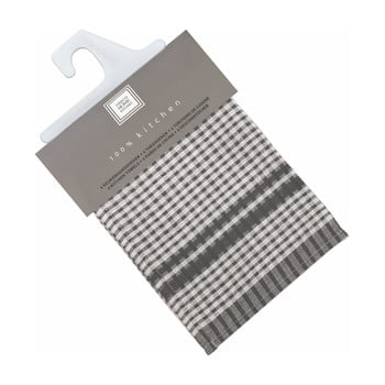 Set 6 prosoape de bumbac Tiseco Home Studio Cristal, 50 x 70 cm, negru