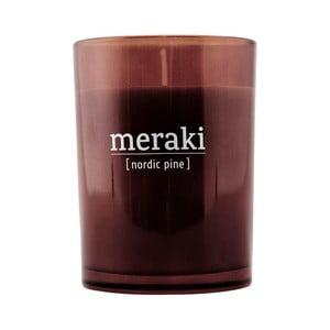Organická svíčka ve skle s vůní borovice Meraki Nordic Pine, délka hoření 35 hodin