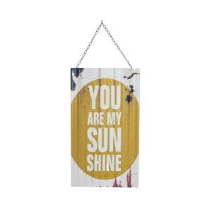 Nástěnná retro cedule Novita My Sunshine