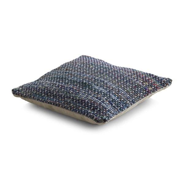 Niebieska poduszka z wypełnieniem we wzory Geese Blues, 45x45 cm