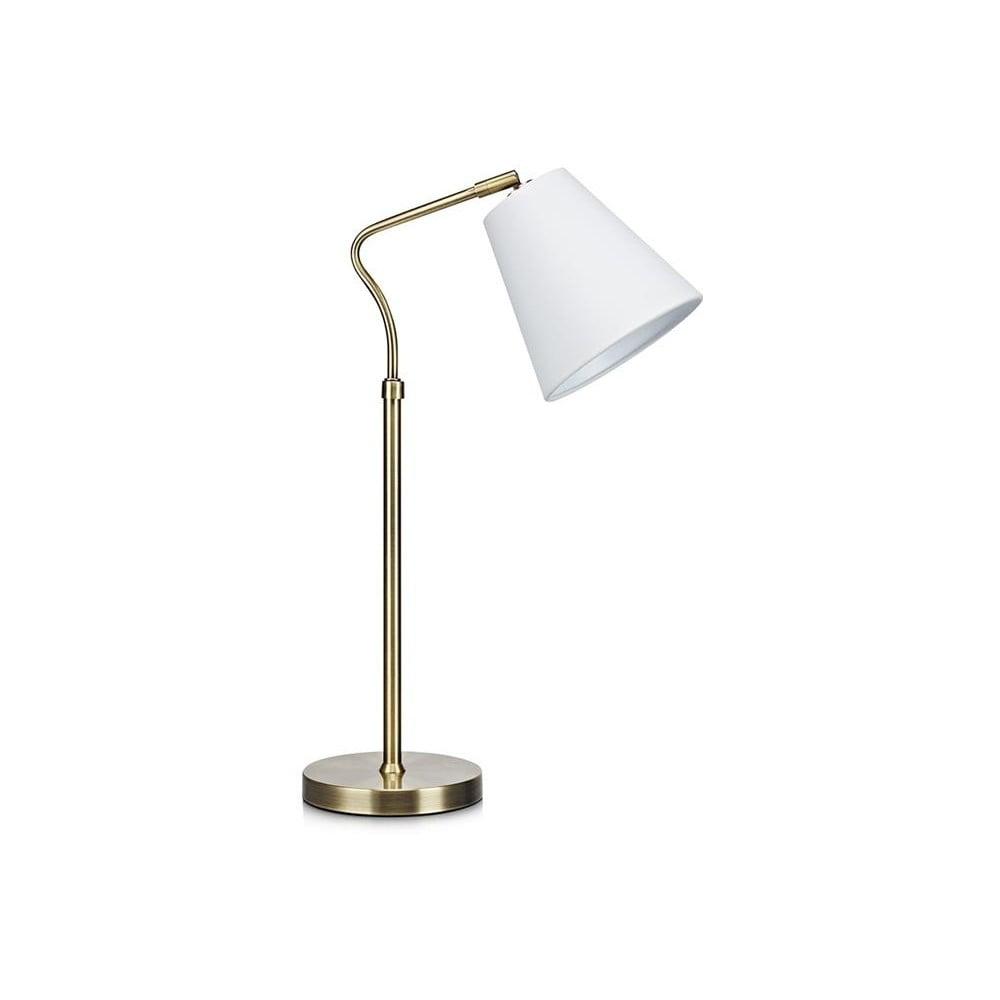 Stolní lampa v bílo-zlaté barvě Markslöjd Tindra