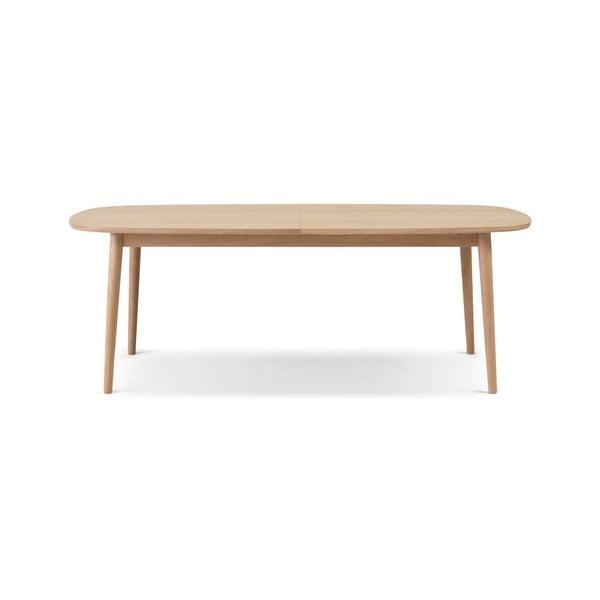 Svetlohnedý rozkladací jedálenský stôl WOOD AND VISION Bow, 210 × 105 cm
