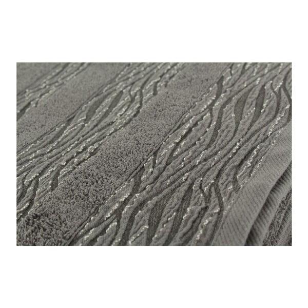 Sada 2 šedých osušek Cizgili, 50x90 cm