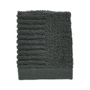 Tmavě zelený ručník ze 100% bavlny na obličej Zone Classic Pine Green, 30x30cm