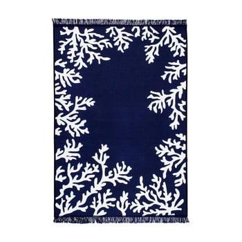 Covor reversibil Coral, 140 x 215 cm, alb-albastru de la Cihan Bilisim Tekstil