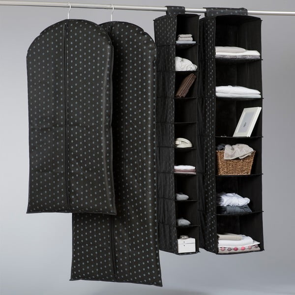 Textilní závěsný organizér s 9 přihrádkami Compactor Garment