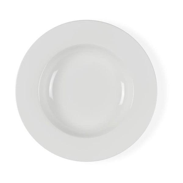 Biely porcelánový polievkový tanier Bitz Mensa, priemer 23 cm