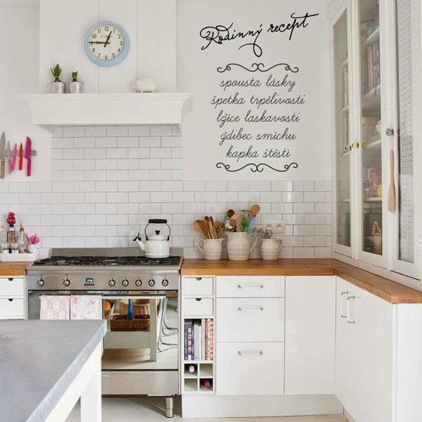 Samolepka na stěnu Rodinný recept