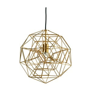 Železné stropní svítidlo v měděné barvě Pols Potten Hexacomplex, Ø 36 cm