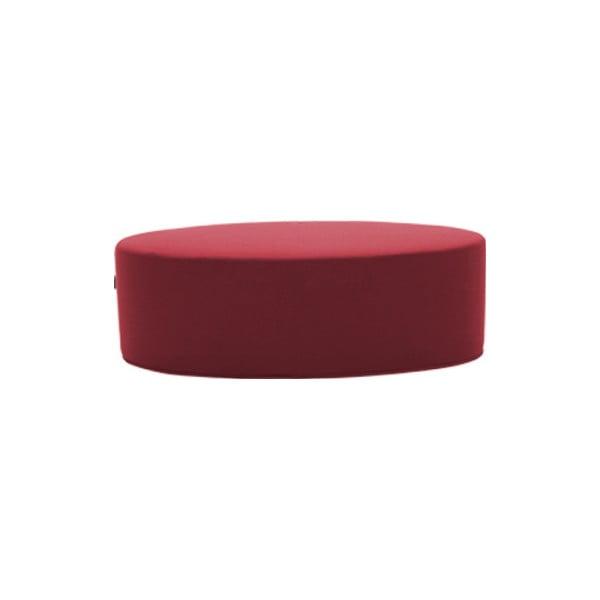 Tmavě červený puf Softline Bon-Bon Vision Red, délka 120 cm