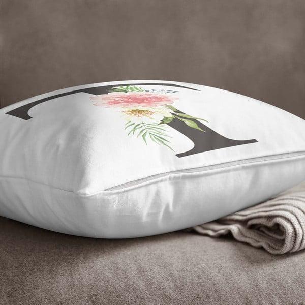 Față de pernă Minimalist Cushion Covers Floral Alphabet T, 45 x 45 cm