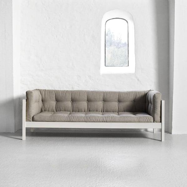 Pohovka pro tři Karup Fusion White/Linoso Light Gray