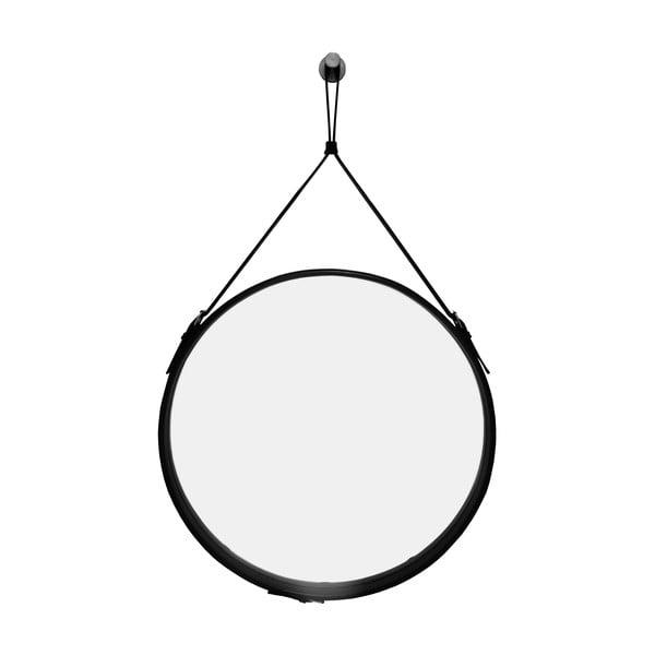 Závesné zrkadlo v čiernom ráme RGE Elvis, ø 60 cm