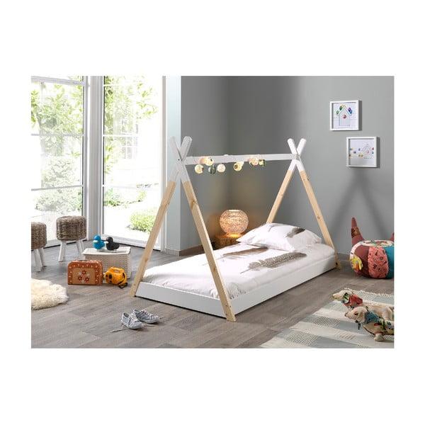 Bílá dětská postel Vipack Tipi, 90x200cm