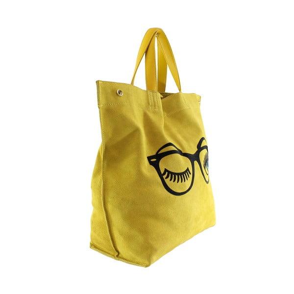 Kožená kabelka Wink, žlutá