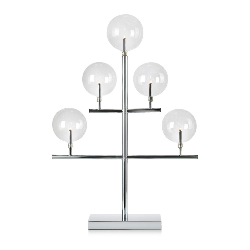 Svítící svícen ve stříbrné barvě Markslöjd Maestro, výška 59 cm Markslöjd