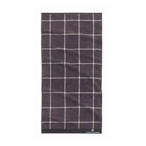 Ručník Tom Tailor Jacquard Dark Grey, 50x100 cm