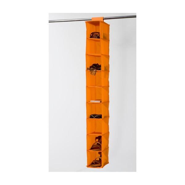 Oranžový závěsný organizér s 9 přihrádkami Compactor