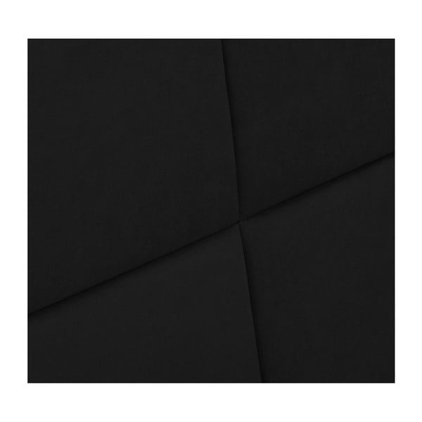 Černé čelo postele HARPER MAISON Gala, 160 x 120 cm