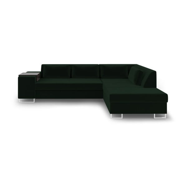 Zielona rozkładana sofa prawostronna Cosmopolitan Design San Antonio