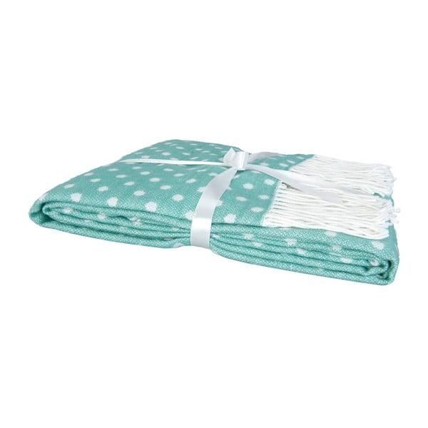 Zelený pléd s puntíky Clayre & Eef Dots, 130x150cm
