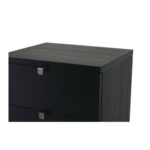 Comodă din lemn de stejar cu 5 sertare  Folke Confetti, negru