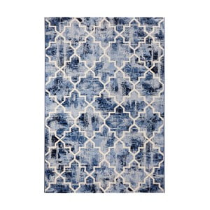 Covor Mint Rugs Diamond, 80 x 150 cm, albastru