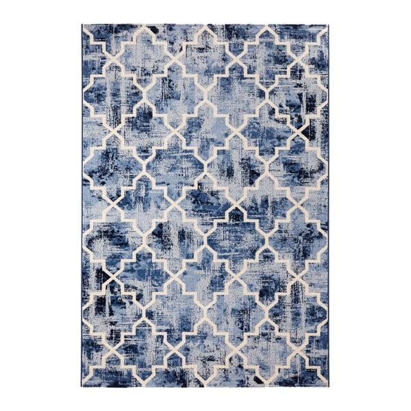 Modrý koberec Mint Rugs Diamond, 133x195cm