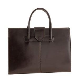 Tmavě hnědá kožená kabelka Ore Diece Bari