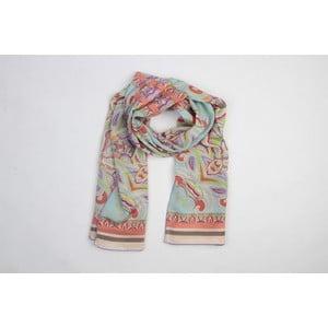 Hedvábný šátek Flowers I
