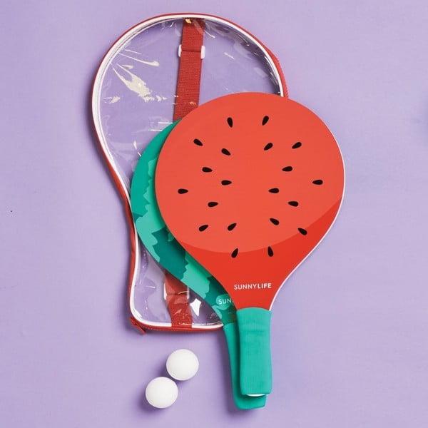 Dřevěné pálky v hrací sadě Sunnylife Watermelon