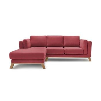 Canapea cu șezlong pe partea stângă Bobochic Paris Seattle, roșu