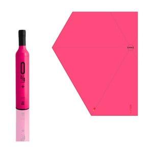 Skládací deštník 0 % plus, růžový